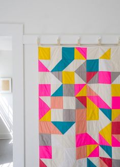 Geometric Quilt Pattern - easy DIY for beginner sewing