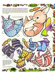 Baby Animals paper dolls