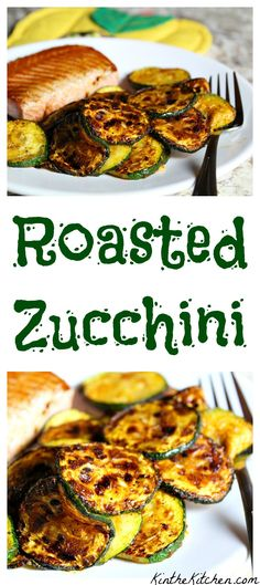 This easy roasted zucchini recipe makes a delicious side dish, and is great for using up the last of the summer zucchini!