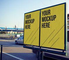 45+ Free Outdoor Advertising Billboard Mockup PSD