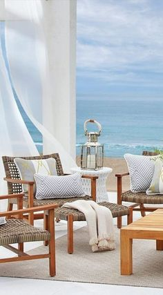 hotel playa With a breathable open weave, our Isola Seating Collection is the perfect fit for arid and coastal climates alike. Outdoor Spaces, Outdoor Living, Beautiful Beach Houses, Beach Mansion, Coastal Living Rooms, Coastal Bedrooms, Coastal Cottage, Coastal Decor, Tropical