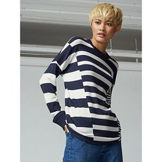 Buy Warehouse Rib Detail Mix Top, Blue from our Women's Shirts & Tops range at John Lewis & Partners. Striped Knit, Warehouse, Jumper, Outfit Ideas, Detail, Stuff To Buy, Shirts, Blue, Outfits
