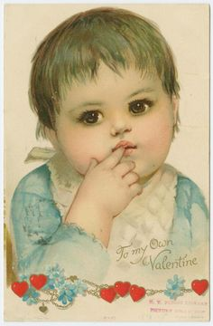 San Valentín Postal bebe