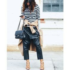 Tash Sefton wears the (leather) pants | 28 Awesome Street Styles From Fashion Week Australia