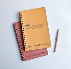 Düller notebooks. Paper like silk, grid rule, A5ish size. ;-;