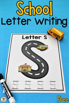 Are you looking for a writing activity for preschoolers and kindergartners? Your kids can use these School Letter Writing Mats to practice writing capital letters, develop their fine motor skills, and more! Using letter mats like these school themed one are a fun way for pre-readers to learn and practice letter shapes and formation. Click on the picture to get these free worksheets for preschool! #worksheetsforpreschool #preschoolworksheets #worksheetsforkindergarten #kindergartenworksheets
