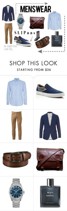 """SLIPons by Coach"" by mario1977lodz ❤ liked on Polyvore featuring Polo Ralph Lauren, Vans, Dockers, Dolce&Gabbana, Uniqlo, OMEGA, Chanel, Alfani, men's fashion and menswear"