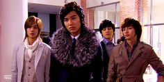 Tumblr The exclusive bromance. The legendary F4. They are childhood best friends who share the same sophisticated wealthy lifestyle. Everyone has their struggle and sadness, but in the end they prove their friendship. Besides, they still support their buddy, Gu Jun Pyo, who curls his hair and wears that fur to school. That's love.