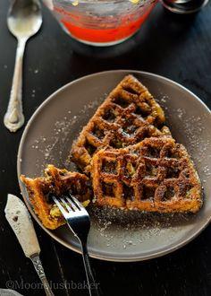 Waffling part 2 /-/Pumpkin donut French waffle | The moonblush Baker