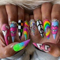 """Ray♡Baby🏳️🌈🤪 on Instagram: """"Something like my logo #atlantanails #notd #RayBabyDidMyNails #nailsbyraybaby #atlantanailtech #atlnailtech #atlantanails…"""" Hippie Nails, Ta Nails, Nail Tech, Like Me, Nail Art, Beauty, Logo, Instagram, Logos"""