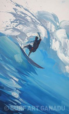 Need anything surf related? Surfboard Painting, Surfboard Art, Art Original, Original Paintings, Surf Drawing, Vintage Surf, Wave Art, Art Sculpture, Sea Art
