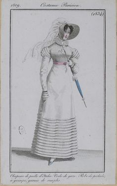1819. Costume Parisien.   https://flic.kr/p/bV8sEy | M5053MA_214X04X00076_L_4 | French, English, and German fashion plates from 1819. All images come from the collection of the Bibliothèque des Arts Décoratifs. www.lesartsdecoratifs.fr/francais/bibliotheque/  PLEASE ATTRIBUTE THESE IMAGES TO THE BIBLIOTHÈQUE DES ARTS DÉCORATIFS.  At a minimum, please link back to this Flickr set.