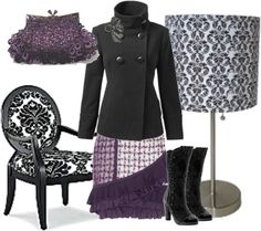 """Blk/Purple "" by deca30 on Polyvore"
