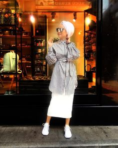 Ideas fashion hijab summer outfit ideas for 2019 20 Modest Fashion Hijab, Modern Hijab Fashion, Street Hijab Fashion, Casual Hijab Outfit, Hijab Fashion Inspiration, Islamic Fashion, Muslim Fashion, Mode Outfits, Fashion Outfits