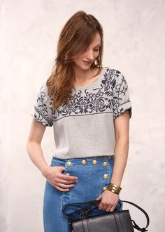 Sézane - Blouse Ciota Style Parisienne, Ethical Clothing, Parisian Style, Pull, Must Haves, Dressing, Collection, Clothes, Womens Fashion