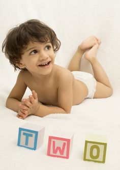 I am TWO - Photo shoot idea for 2 years old