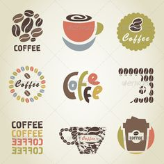 Coffee Icon 4  #GraphicRiver         Set of icons on a coffee theme. The vector…