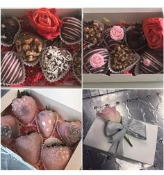 Party Themes, Party Ideas, Gift Ideas, Chocolate Covered Strawberries, Valentines Day, Strawberry, Cake, Desserts, Gifts