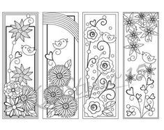 Happy Spring- Coloring Bookmarks Page, Relax Mandala Designs to Color. Physical Printed coloring page. Spring Coloring Pages, Coloring Pages To Print, Colouring Pages, Free Coloring, Coloring Sheets, Coloring Books, Mandala Design, Printable Adult Coloring Pages, Book Markers
