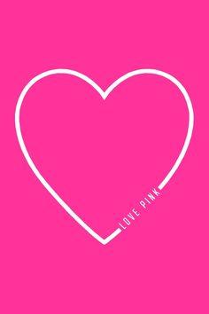 Hot pink white heart iphone wallpaper phone background lock screen