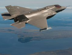 F-35 STOVL flying with inert AIM-9X Sidewinders over Pax River