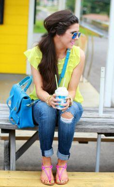 GiGi New York | The Sweetest Thing Fashion Blog | Sky Blue Hayden Satchel