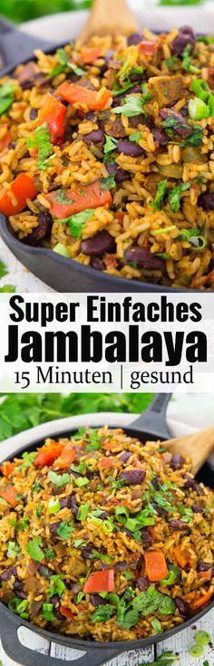 Jambalaya ist das ultimative Wohlfühlessen aus dem Südosten der USA! Rezepte mit Reis bzw. vegetarische Rezepte können so lecker und einfach sein! Mehr vegane Rezepte findet ihr auf veganheaven.de ! via @veganheavende