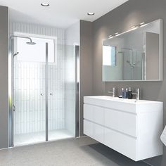 Våre saloondører er utrolig praktiske og kan kombineres med alle typer faste glassfelt. Her har du mulighet for å bygge opp din egen dusjløsning etter ditt behov. #vikingbad #dusjløsninger #bathroom #baderomsdesign #baderom #baderomsinspirasjon #baderominspo #skandinaviskehjem Norwegian House, Alcove, Bathroom Lighting, Bathtub, Mirror, Furniture, Instagram, Home Decor, Bath