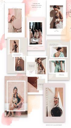 feminine fashion ideas that look gorgeous 588 #fashion #femininefashionideas Design Social, Webdesign, Portfolio Design, Portfolio Layout, Blog Layout, Instagram Grid, Instagram Design, Instagram Creator, Instagram Feed Layout