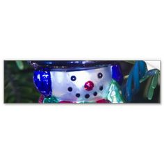 Snowman Ornament Bumper Sticker from Florals by Fred #zazzle #gift #Christmas