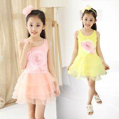 >> Click to Buy << Children's Garment Summer New Pattern Child Flower New Pattern Korean Girl Summer Wear Princess Dress  #Affiliate