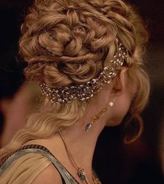 Medieval Elegant Updo for Women