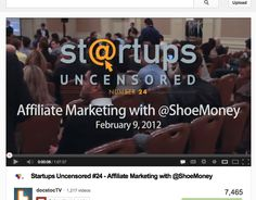Affiliate Marketing with @ShoeMoney   http://www.youtube.com/watch?v=-5UQ92Dg-ME