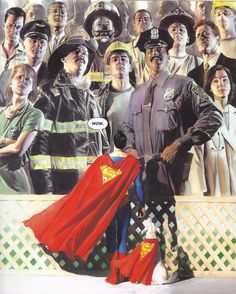 Superman and Real Heroes by Alex Ross