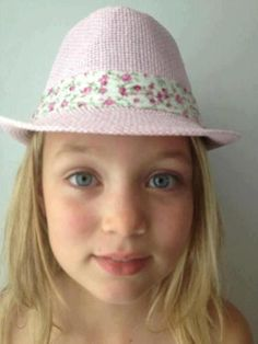 Kiddy fedora - pink with floral band, $16.95