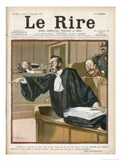An Advocate in Full Swing in the Courtroom Giclee Print by Louis Malteste - AllPosters.co.uk