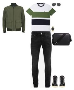 """""""Go to Louvre Museum"""" by stylev ❤ liked on Polyvore featuring Knutsford, Lacoste, Alexander McQueen, Yves Saint Laurent, Michael Kors, Rolex, Giorgio Armani, men's fashion and menswear"""