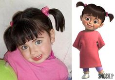 real people look like cartoons boo monsters inc