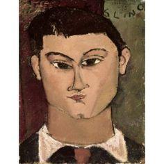 Portrait of the Painter Moise Kisling 1908 Amedeo Modigliani (1884-1920 Italian) Oil on canvas Pinacoteca di Brera Milan Italy Canvas Art - Amedeo Modigliani (24 x 36)