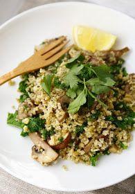 Freekeh Bowl with Mushrooms & Kale