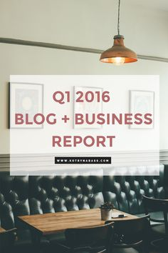 2016 is definitely the year of growth for my blog + business & I'm very excited to share my ups & downs with you all. For this reason, and simply because I would love to keep record of my stats here o the blog, I decided to share my first Blog + Business report with you all. Here is the summary of how I did in the first quarter of 2016.