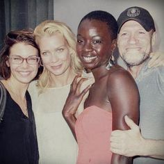 Lauren Cohan, Laurie Holden, Danai Gurira, Michael Rooker-The Walking Dead. i love seeing pictures of them not in character together.