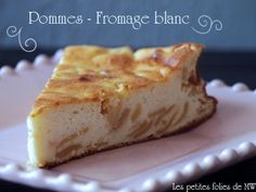 Gâteau au fromage blanc et aux pommes Cheesecakes, Macarons, Cupcake Cakes, Cupcakes, Banana Bread, French Toast, Gluten, Healthy Recipes, Healthy Food