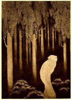 """Sidney Sime (English, 1867-1941). Hish. From: Lord Dunsany's """"The Gods of Pegana,"""" 1911."""