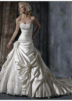 Elégante robe de mariée en satin charmante sans bretelle