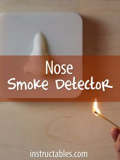 Take an existing smoke detector and reframe it into functional art!