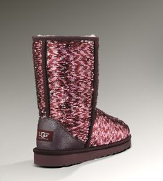UGG Short Sparkles Classic 1002978 Sangria Multi Boots