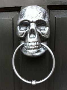 Make a Painted Skull Door Knocker