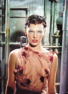 Milla Jovovich by David LaChapelle