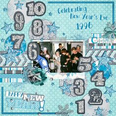 Celebrating New Years Eve - Scrapbook.coml Like adding numbers for countdown.